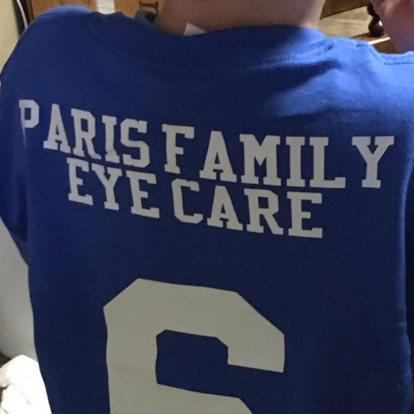Paris Family Eye Care Hockey Jersey