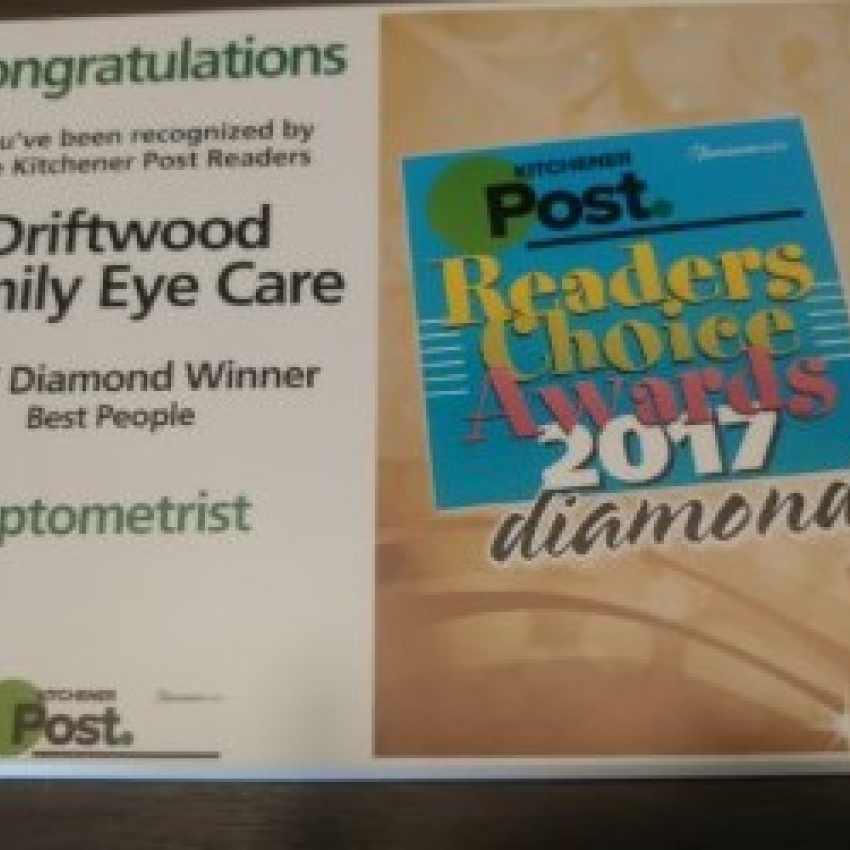 Driftwood Family Eye Care Award