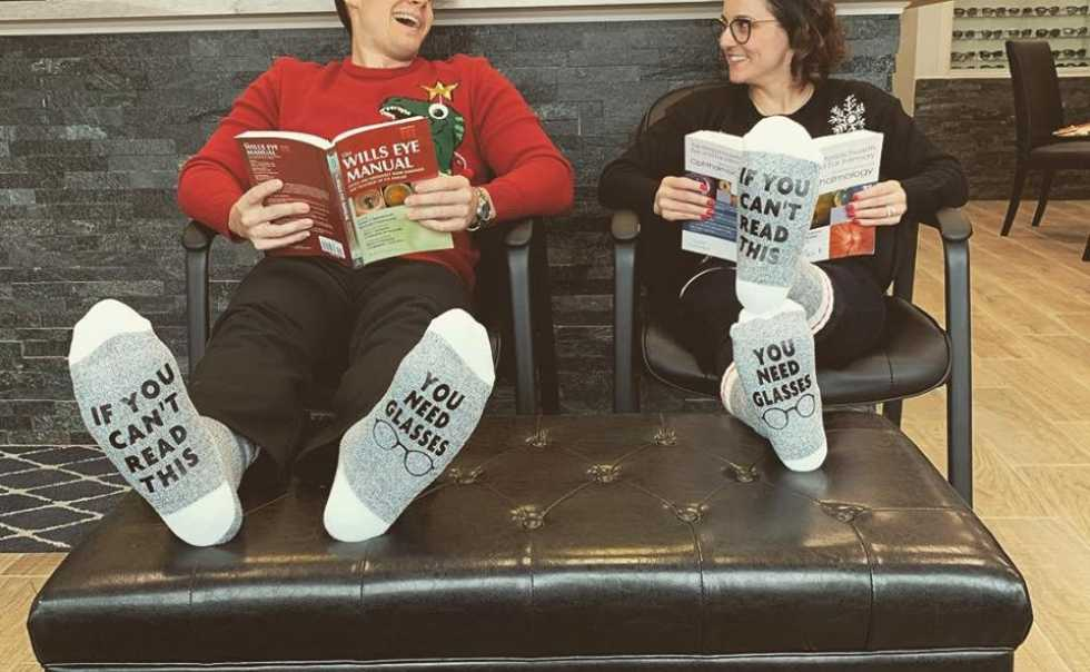Great Holiday Socks for these Two Docs!