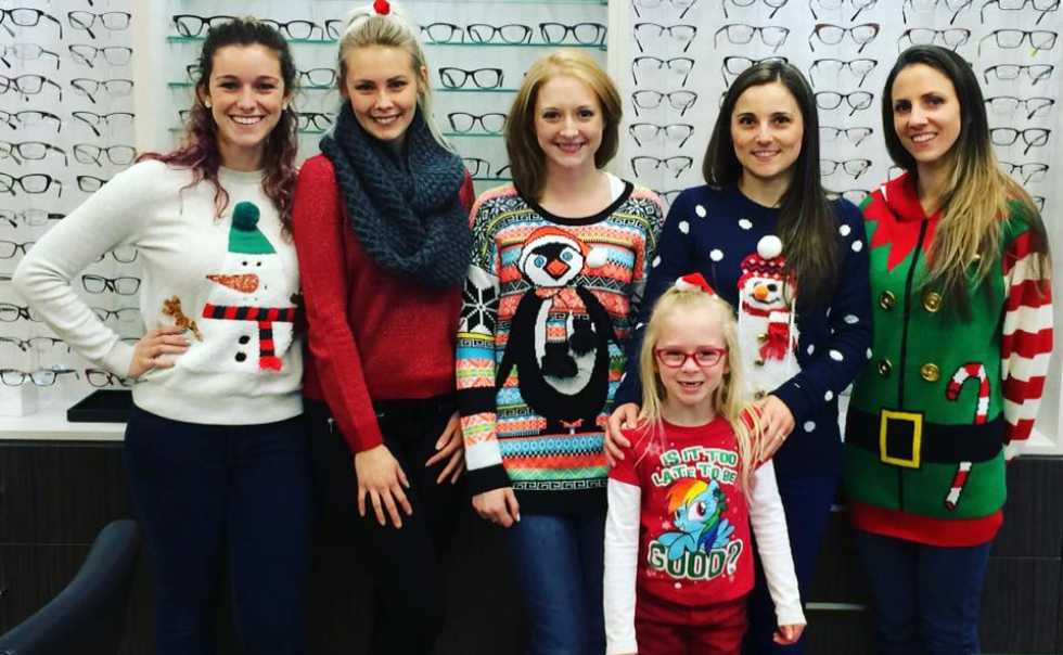 We like our Holiday sweaters...stay tuned to see what we wear next year!