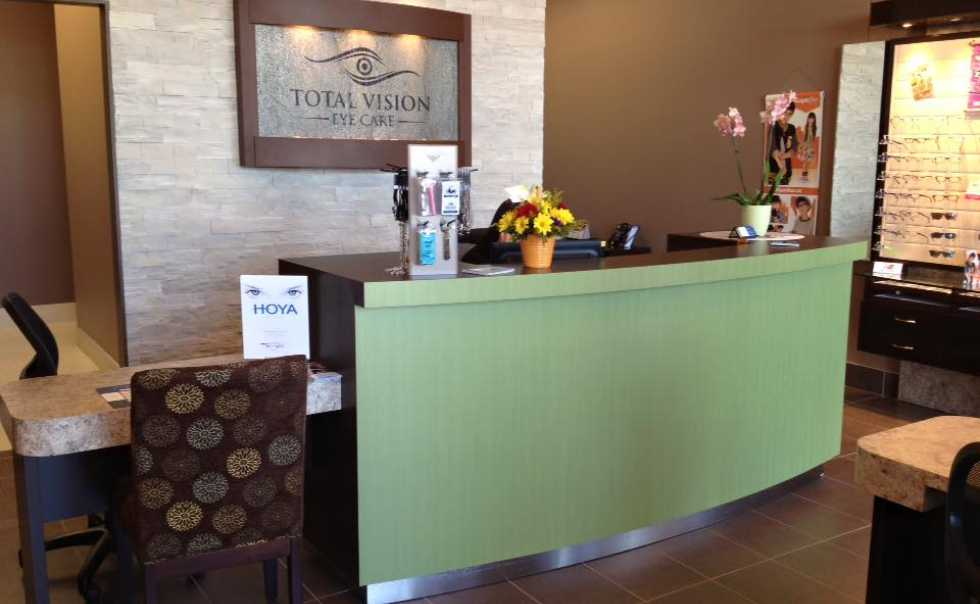 Reception desk Total Vision Eye Care