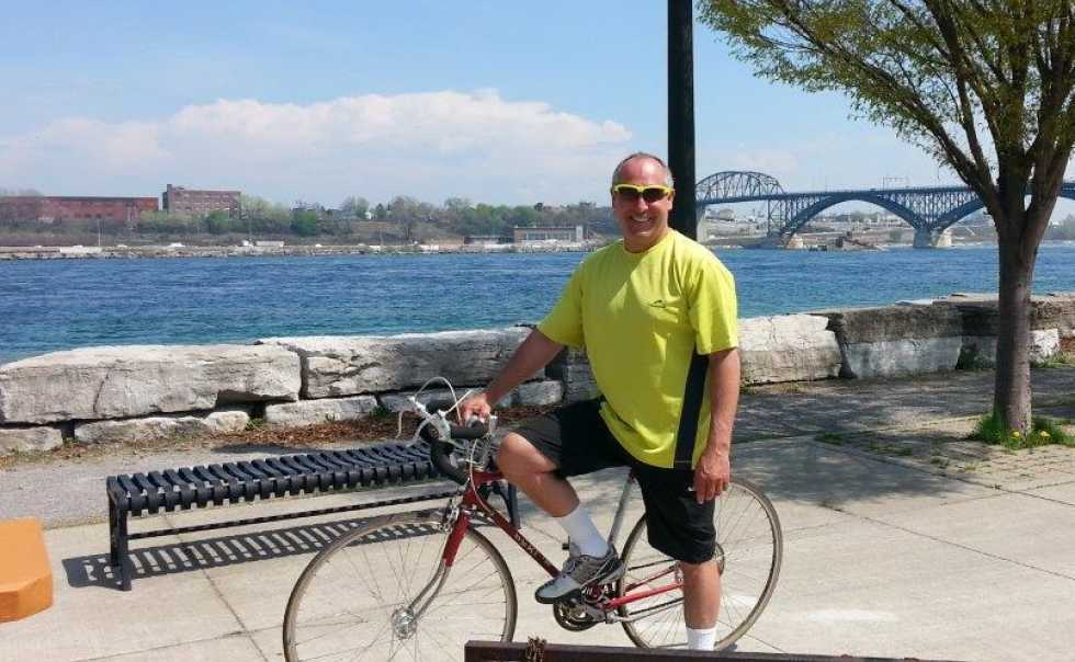 Training for Cycle For Sight Toronto, Chris in Fort Erie, 80 km Distance
