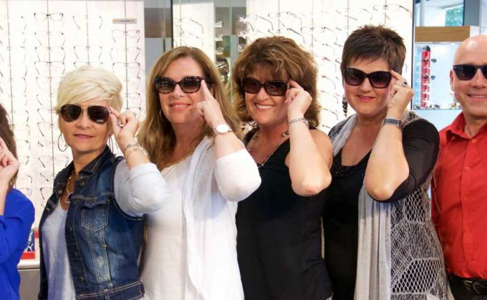 Hawkesbury Optometric Clinic staff and some of our sunglasses